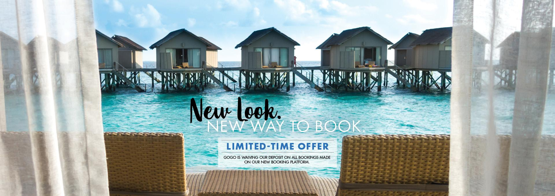 New Look. New Way to Book.